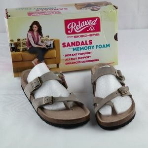 Skechers Granola Opt Out Sandals Sz 7 Taupe